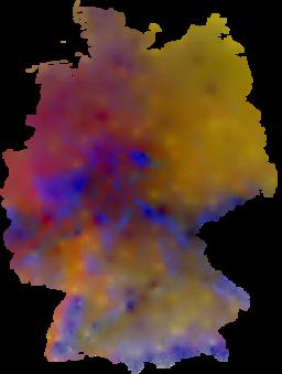 Dreidimensionale Klimakarte Deutschlands