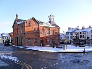 Dromore, County Down - Market Square and the Town Hall (centre)
