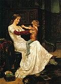 Drottning Blanka, målning av Albert Edelfelt från 1877.jpg