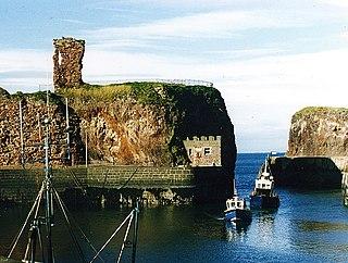 Dunbar Castle castle in East Lothian, Scotland, UK
