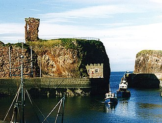 John Muir Country Park - Ruins of Dunbar Castle next to the harbour