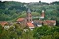 Dunzweiler, Blick zu der evangelischen Kirche und der Kirche St.Ägidius.jpg