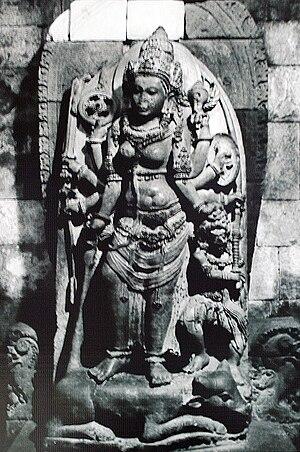 Roro Jonggrang - The statue of Durga Mahisasuramardini in the northern cella of Shiva temple, thought to be Princess Rara Jonggrang