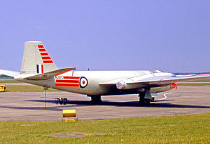 RAF Cottesmore - Canberra T.4 trainer of No.231 OCU at RAF Cottesmore in 1970.