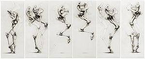 Joan Castejón - 'El Salt', wax on paper, 2002, by Joan Castejon.