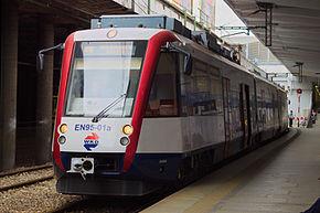 EN95-01 na stacji Warszawa Śródmieście WKD (2016)