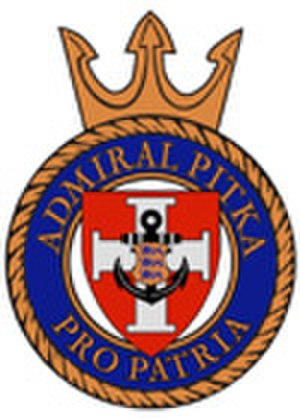EML Admiral Pitka (A230) - Image: ENS Pitka coat of arms
