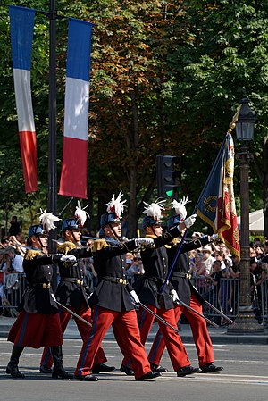 École spéciale militaire de Saint-Cyr - The Color guard of Saint-Cyr.
