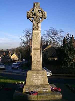 Eckington, Derbyshire - Image: Eckington Cenotaph