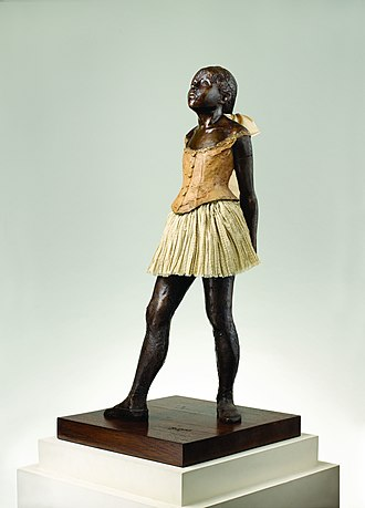 "Little Dancer of Fourteen Years - Angle from ""The Complete Sculptures of Edgar Degas"" collection at M.T. Abraham Foundation, cast in 1997. Note the varying tutu."
