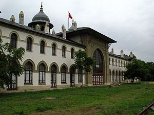 Chemins de fer Orientaux - Karaağaç railway station, built in 1873 by the CO, but no longer used.