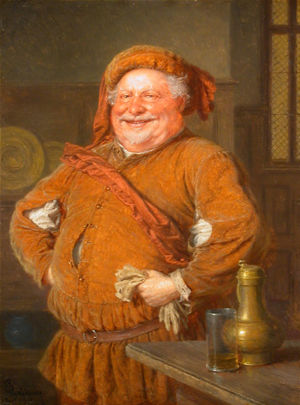 Joie de vivre - Eduard von Grützner's depiction of Falstaff, a literary character well known for his joie de vivre