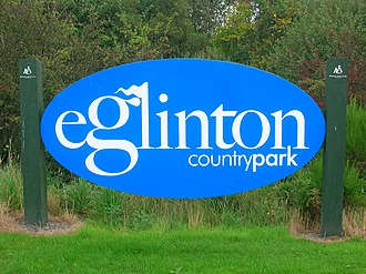 Eglinton Country Park - Image: Eglintonparksign
