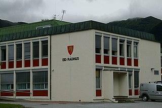 Nordfjordeid Village in Western Norway, Norway