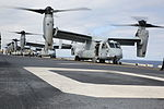 Eight Ospreys take off from USS Bonhomme Richard 150313-M-WM612-047.jpg