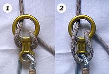 Klettergurt Aus Seil : Abseilachter u2013 wikipedia