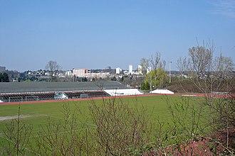Riederwaldstadion - Image: Eintracht sportplatz ffm riederwald 004