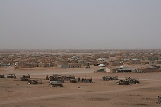 Sahrawi refugee camps - El-Aaiún refugee camp.