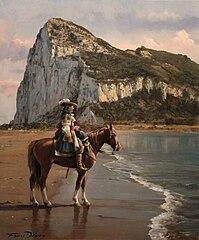 El último de Gibraltar, obra de Augusto Ferrer-Dalmau, representa a Diego de Salinas en 1704.