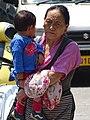 Elderly Woman with Child - McLeod Ganj - Himachal Pradesh - India (26672803242).jpg