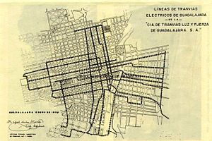 Electric tramway network of Guadalajara in 1905.jpg