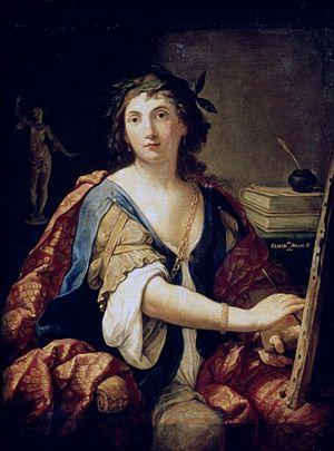 Elisabetta Sirani - Self-Portrait as Allegory of Painting (1658) by Elisabetta Sirani, Pushkin Museum, Moscow.