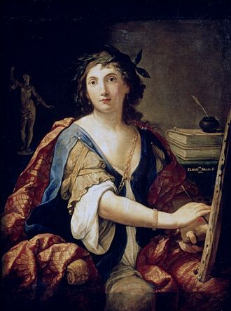 Elisabetta Sirani - Self-Portrait as Allegory of Painting (1658) by Elisabetta Sirani, Pushkin Museum, Moscow.