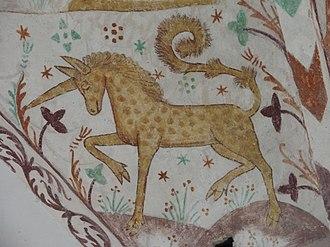 Elmelunde Church - Image: Elmelunde Church unicorn