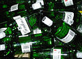 Empty green bottles of Gordon's gin.jpg