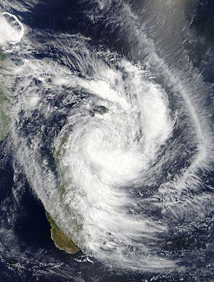 Cyclone Enawo - Enawo over Madagascar on 8 March