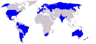 Endemol - Map of World presence of Endemol
