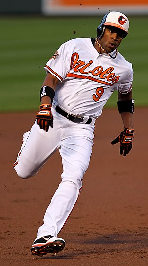 Endy Chávez - Chavez with the Baltimore Orioles.