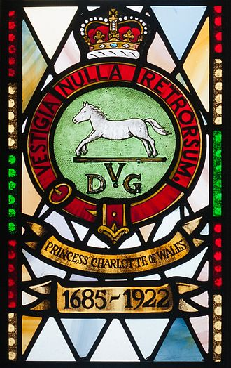 5th Dragoon Guards - Memorial window at St Macartin's Cathedral, Enniskillen