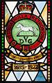 Enniskillen Cathedral of St. Macartin North Aisle Royal Inniskilling Dragoons Window Detail Insigna 1685-1922 2012 09 17.jpg