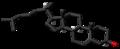 Ent-Cholesterol molecule skeletal.png