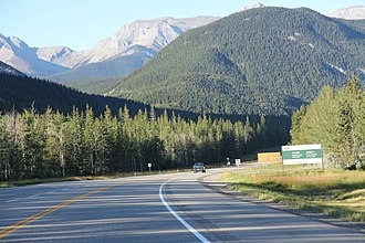 Jasper National Park - Entering Jasper National Park on Yellowhead Highway.