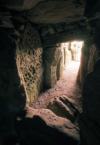 Loughcrew - The inner passage of Cairn T