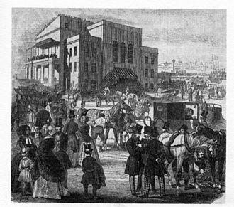 Epsom Downs Racecourse - Image: Epsom Grandstand 1846