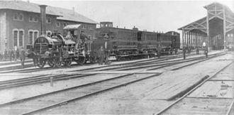 Mannheim–Saarbrücken railway - The opening of the Mannheim–Ludwigshafen section on 25 February 1867