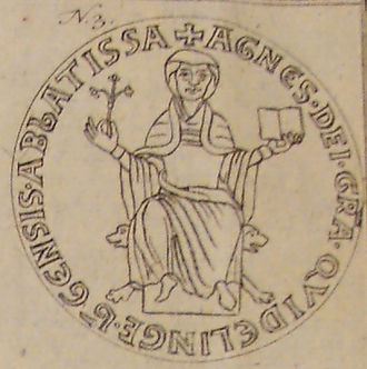 Agnes II, Abbess of Quedlinburg - Agnes II's seal