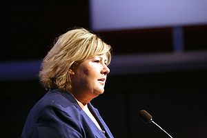 Erna Solberg, Norwegian politician (Conservati...