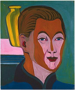 Ernst Ludwig Kirchner - Kopf des Malers (Selbstbildnis) 1925