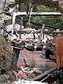 Errezil burned house debris.JPG