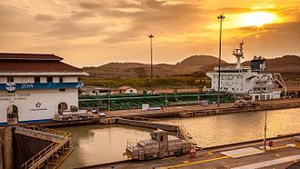 Panama Canal locks - Miraflores locks