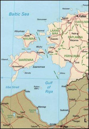 Hiiumaa - Image: Estonian archipelago (Saaremaa and Hiiumaa)