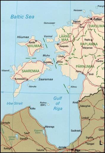 Estonian archipelago (Saaremaa and Hiiumaa)