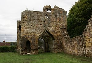 Etal Castle - The interior side of the gatehouse