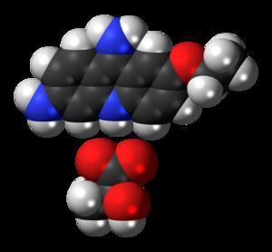 Ethacridine lactate - Image: Ethacridine lactate 3D spacefill