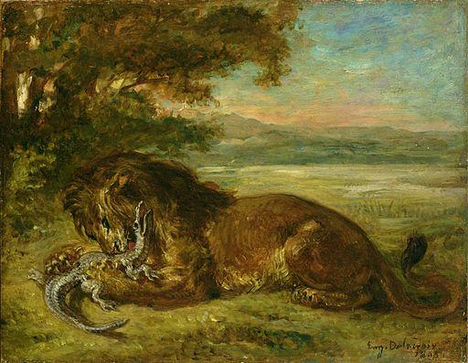 Eugène Delacroix - Lion et Alligator