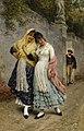 Eugen von Blaas - The Flirtation, 1889.jpg